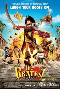 Download The Pirates Band of Misfits (2012) DVDRip 350MB Ganool
